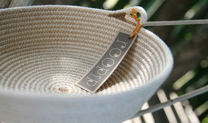 roopip cotton bowl - handmade with pure cotton sash cord