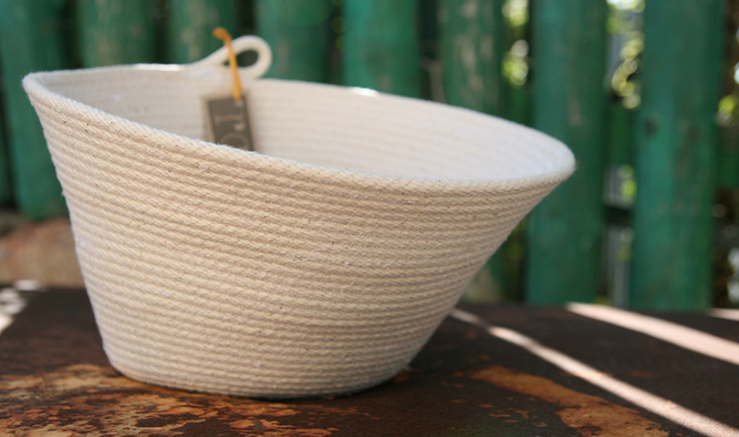 cotton sash cord bowl by roopip
